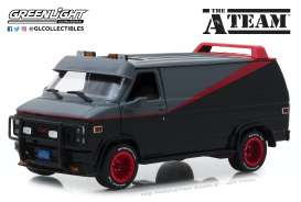 GMC  - Vandura *A Team* 1983 grey/black - 1:24 - GreenLight - 84072 - gl84072 | Tom's Modelauto's