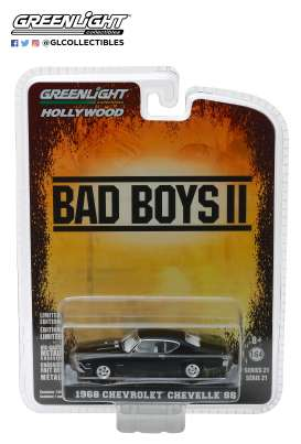 Chevrolet  - Chevelle SS *Bad Boys II* 1968 black - 1:64 - GreenLight - 44810E - gl44810E | Tom's Modelauto's