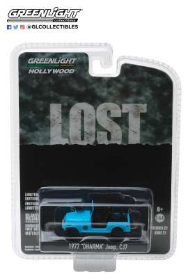 Jeep  - CJ-7 *Lost* 1977 blue - 1:64 - GreenLight - 44810F - gl44810F | Tom's Modelauto's