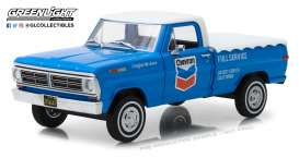 Ford  - F-100 1972 blue/white - 1:24 - GreenLight - 85013 - gl85013 | Tom's Modelauto's