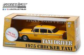 Checker  - 1975 yellow - 1:43 - GreenLight - 86532 - gl86532 | Tom's Modelauto's
