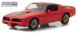 Pontiac  - Firebird Trans Am 1977 firethorn red - 1:43 - GreenLight - 86330 - gl86330 | Tom's Modelauto's