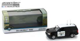 Chevrolet  - Tahoe 2012 black/white - 1:43 - GreenLight - 86098 - gl86098 | Tom's Modelauto's