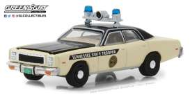 Plymouth  - Fury Police 1977  - 1:64 - GreenLight - 42850A - gl42850A | Tom's Modelauto's