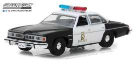 Pontiac  - LeMans Police 1977  - 1:64 - GreenLight - gl42850B | Tom's Modelauto's