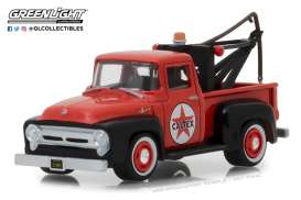 Ford  - F-100 pick-up 1956 red - 1:64 - GreenLight - 41060A - gl41060A | Tom's Modelauto's