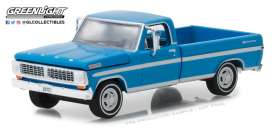 Ford  - F-100 1970 grabber blue - 1:64 - GreenLight - gl29967 | Tom's Modelauto's