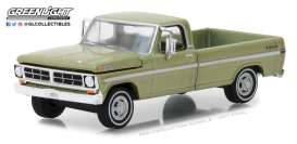 Ford  - F-100 1970 lime gold metallic - 1:64 - GreenLight - gl29968 | Tom's Modelauto's