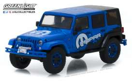 Jeep  - Wrangler Unlimited 2012 blue - 1:43 - GreenLight - 86099 - gl86099 | Tom's Modelauto's
