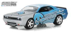 Dodge  - Challenger 2009 blue/ light blue/ grey - 1:64 - GreenLight - 29962 - gl29962 | Tom's Modelauto's