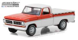 Ford  - F-100 1971 red/white - 1:64 - GreenLight - 29957 - gl29957 | Tom's Modelauto's