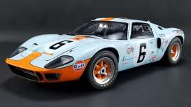 Ford  - GT40 MKI #9 1968 gulf blue/orange - 1:12 - Acme Diecast - M1201004 - acmem1201004 | Tom's Modelauto's
