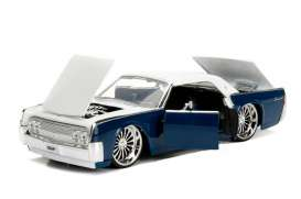 Lincoln  - Continental 1963 blue/white - 1:24 - Jada Toys - 99553b - jada99553b | Tom's Modelauto's