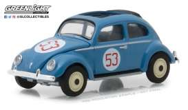 Volkswagen  - Beetle Split Window 1954 blue - 1:64 - GreenLight - 29920A - gl29920A | Tom's Modelauto's