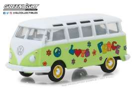 Volkswagen  - Samba Bus 1964 green/white - 1:64 - GreenLight - gl29920C | Tom's Modelauto's