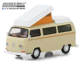 Volkswagen  - T2 Campmobile *Westfalia* 1972 cream - 1:64 - GreenLight - 29920F - gl29920F | Tom's Modelauto's