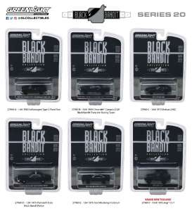 Assortment/ Mix  - black - 1:64 - GreenLight - 27960 - gl27960 | Tom's Modelauto's