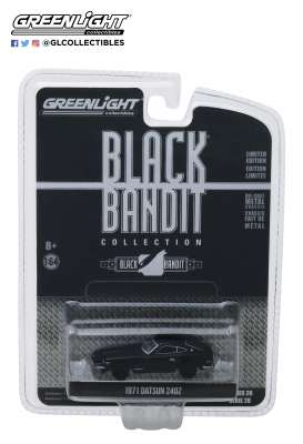 Datsun  - 240Z 1971 black - 1:64 - GreenLight - 27960C - gl27960C | Tom's Modelauto's
