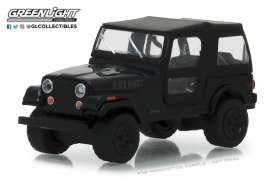 Jeep  - CJ-7 1976 black - 1:64 - GreenLight - 27960F - gl27960F | Tom's Modelauto's