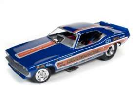 Plymouth  - Cuda Funny Car 1971 blue/orange - 1:18 - Auto World - 1176 - AW1176 | Tom's Modelauto's