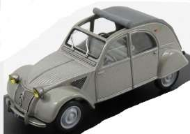 Citroen  - 2CV open roof 1952 grey - 1:43 - Magazine Models - magAT2cv1952 | Tom's Modelauto's