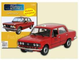 Fiat  - 125P red - 1:43 - Magazine Models - PCfi125Ptaxi - magPCfi125Ptaxi | Tom's Modelauto's