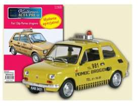 Polski Fiat  - 126P  yellow - 1:43 - Magazine Models - PC126pPD - magPC126pPD | Tom's Modelauto's