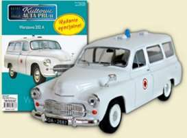 Warszawa  - 202A Ambulance white/red - 1:43 - Magazine Models - magPCwar202A | Tom's Modelauto's