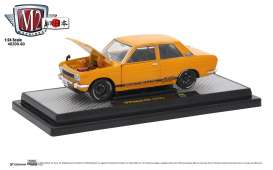 Datsun  - 510 1970 orange - 1:24 - M2 Machines - 40300-60B - M2-40300-60B | Tom's Modelauto's