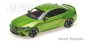 BMW  - M2 2016 green metallic - 1:43 - Minichamps - 410026107 - mc410026107 | Tom's Modelauto's