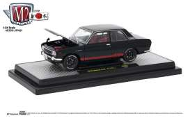 Datsun  - 510 1970 gloss black - 1:24 - M2 Machines - M2-40300jpn01A | Tom's Modelauto's