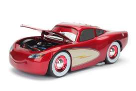 Cars  - Cruising McQueen candy red/white - 1:24 - Jada Toys - 98101 - jada98101 | Tom's Modelauto's