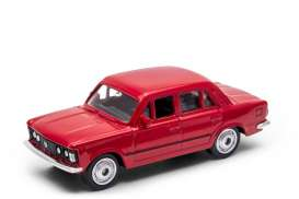 Fiat  - 125P red - 1:60 - Welly - 52380r - welly52380r | Tom's Modelauto's