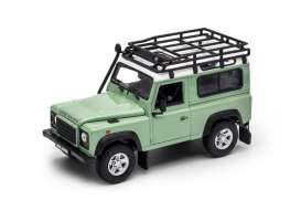 Land Rover  - Defender off road green/white - 1:24 - Welly - welly22498SPgnw | Tom's Modelauto's