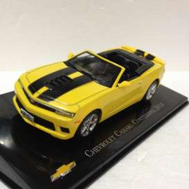 Chevrolet  - Camaro convertible 2014 yellow/black - 1:43 - Magazine Models - CheCamaro - magCheCamaro | Tom's Modelauto's