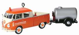 Volkswagen  - T2 pick-up orange/white - 1:24 - Motor Max - 79674 - mmax79674 | Tom's Modelauto's