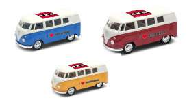 Volkswagen  - T1 Bus 1962 various - 1:34 - Welly - 49764AM - welly49764AM | Tom's Modelauto's