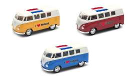 Volkswagen  - T1 Bus 1962 various - 1:34 - Welly - 49764HOL - welly49764HOL | Tom's Modelauto's