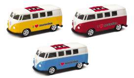 Volkswagen  - T1 Bus 1962 various - 1:64 - Welly - welly52221AM | Tom's Modelauto's