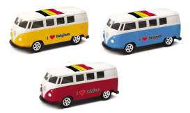 Volkswagen  - T1 Bus 1962 various - 1:64 - Welly - 52221BEL - welly52221BEL | Tom's Modelauto's