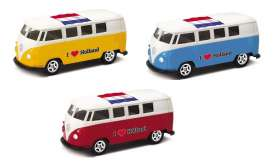 Volkswagen  - T1 Bus 1962 various - 1:64 - Welly - welly52221HOL | Tom's Modelauto's