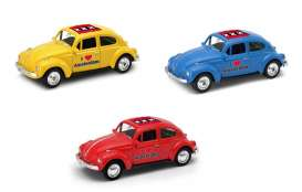 Volkswagen  - Beetle 1963 various - 1:64 - Welly - welly52222AM | Tom's Modelauto's