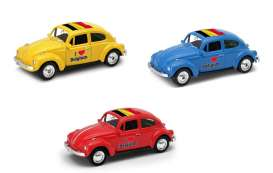 Volkswagen  - Beetle 1963 various - 1:64 - Welly - welly52222BEL | Tom's Modelauto's