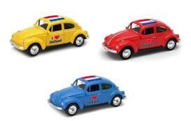 Volkswagen  - Beetle 1963 various - 1:64 - Welly - 52222HOL - welly52222HOL | Tom's Modelauto's
