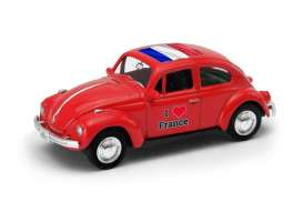 Volkswagen  - Beetle 1963 red/white - 1:64 - Welly - 52222FR - welly52222FR | Tom's Modelauto's