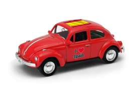 Volkswagen  - Beetle 1963 red/white - 1:64 - Welly - welly52222SP | Tom's Modelauto's