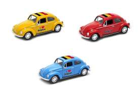 Volkswagen  - Beetle 1963 various - 1:34 - Welly - welly42343BEL | Tom's Modelauto's