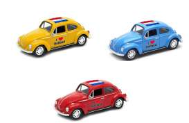 Volkswagen  - Beetle 1963 various - 1:34 - Welly - 42343HOL - welly42343HOL | Tom's Modelauto's