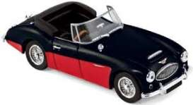 Austin  - Healey 3000 MK3 1964 black/red - 1:43 - Norev - nor070014 | Tom's Modelauto's