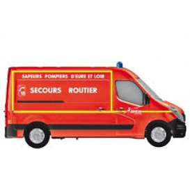 Renault  - Master Pompiers *Secours Routi 2014 red - 1:43 - Norev - nor518783 | Tom's Modelauto's